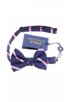 Navy blue and pink boys bow tie, Polo Ralph Lauren