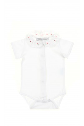 White baby girl body short sleeved, Tartine et Chocolat