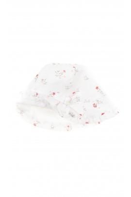 White flowery baby hat, Tartine et Chocolat
