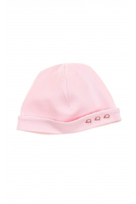 Pink girls cotton cap pulled on, Tartine et Chocolat