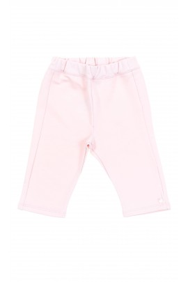 Pink girls knitted trousers, Tartine et Chocolat