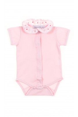 Pink baby girl body short sleeved, Tartine et Chocolat