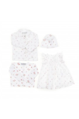 White flowery baby girl cardigan, Tartine et Chocolat