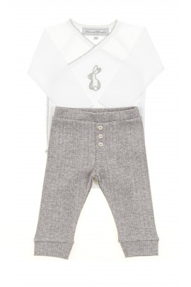 White baby body long sleeved, Tartine et Chocolat
