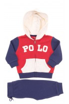 Boys tracksuit, top red-and-navy-blue+navy blue bottom, Polo Ralph Lauren