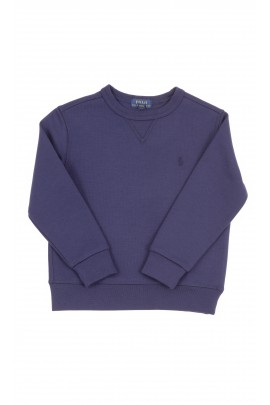 Navy blue boys sweatshirt without hood, Polo Ralph Lauren