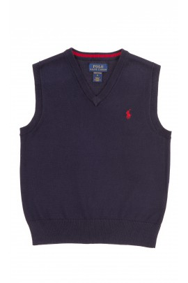 Navy blue boys cotton vest, Polo Ralph Lauren