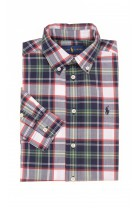 Colourful shirt checked green-and-navy-blue, Polo Ralph Lauren