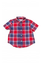 Short sleeved shirt checked red-and-navy-blue, Polo Ralph Lauren