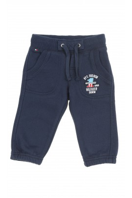 Navy blue baby boys sweatpants, Tommy Hilfiger