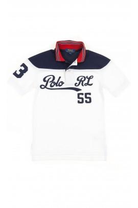 Navy blue and white boys polo shirt, Polo Ralph Lauren