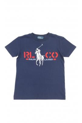 Navy blue boys t-shirt short sleeved, Polo Ralph Lauren