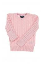 Powder pink girls sweater plait weave, Polo Ralph Lauren