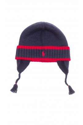 Navy blue cap pulled on tied, Polo Ralph Lauren