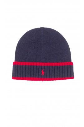 Navy blue boy cap pulled on, Polo Ralph Lauren