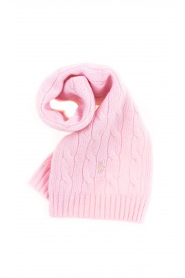 Pink scarf plait weave, Polo Ralph Lauren