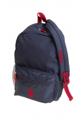 Navy blue 1-compartment backpack, Polo Ralph Lauren