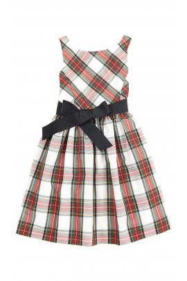 Elegant dress checked white-and-red, Polo Ralph Lauren
