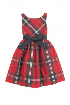 Elegant dress checked red-and-black, Polo Ralph Lauren