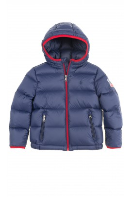 Navy blue boys hooded jacket, Polo Ralph Lauren