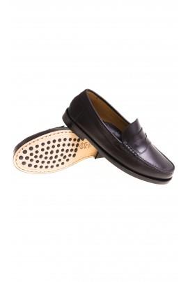 Elegant black boys moccasins, Gallucci