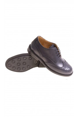 Elegant navy blue boys laced shoes, Galluci