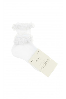 White girls socks with decorative lace, La Perla