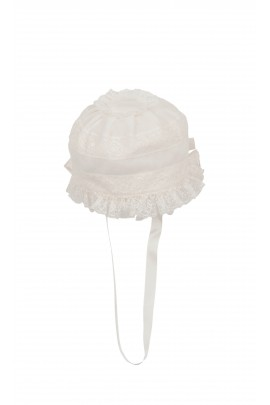 White hat for baptism, Aletta