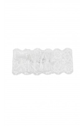 White lace hairband for baptism, Aletta