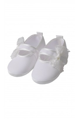 White linen shoes for baptism, Aletta