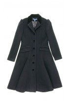 Black fleece girl coat, Polo Ralph Lauren