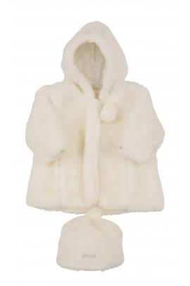 Écru baby fur coat, Miniman