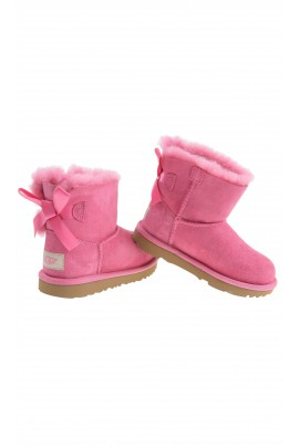 Dark-pink boots with 1 bow, UGG