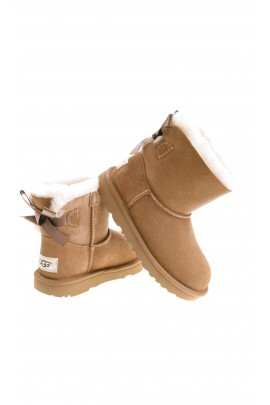 Light-brown boots with 1 bow, UGG