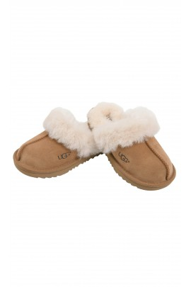 Brown classic slip-on slippers, UGG
