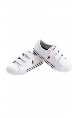 White sports shoes with velcro, Polo Ralph Lauren