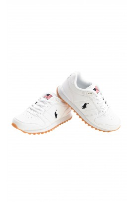 White laced sports shoes, Polo Ralph Lauren