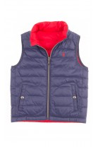 Double-sided red-and-navy-blue gilet, Polo Ralph Lauren