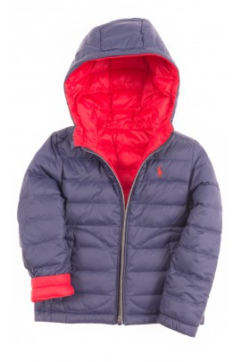 Double-sided red-and-navy-blue hooded jacket, Polo Ralph Lauren