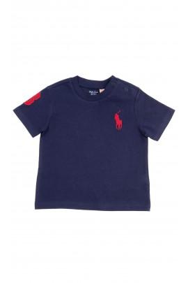 Navy blue baby t-shirt short sleeved, Polo Ralph Lauren