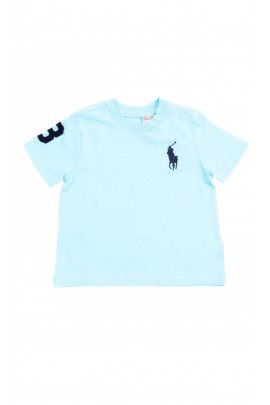 Turquoise baby t-shirt short sleeved, Polo Ralph Lauren