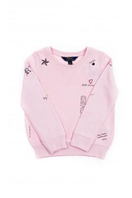 Pink girls sweatshirt with print, Polo Ralph Lauren