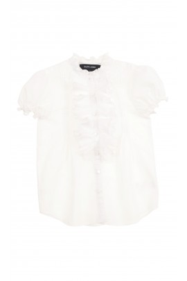 Biała bluzka z krótkim rękawem, Polo Ralph Lauren