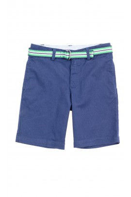 Boys navy blue shorts with striped white-green belt Polo Ralph Lauren