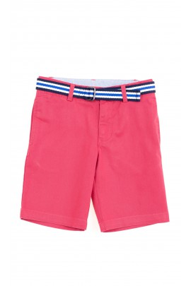 Boys coral shorts with white- navy blue belt , Polo Ralph Lauren