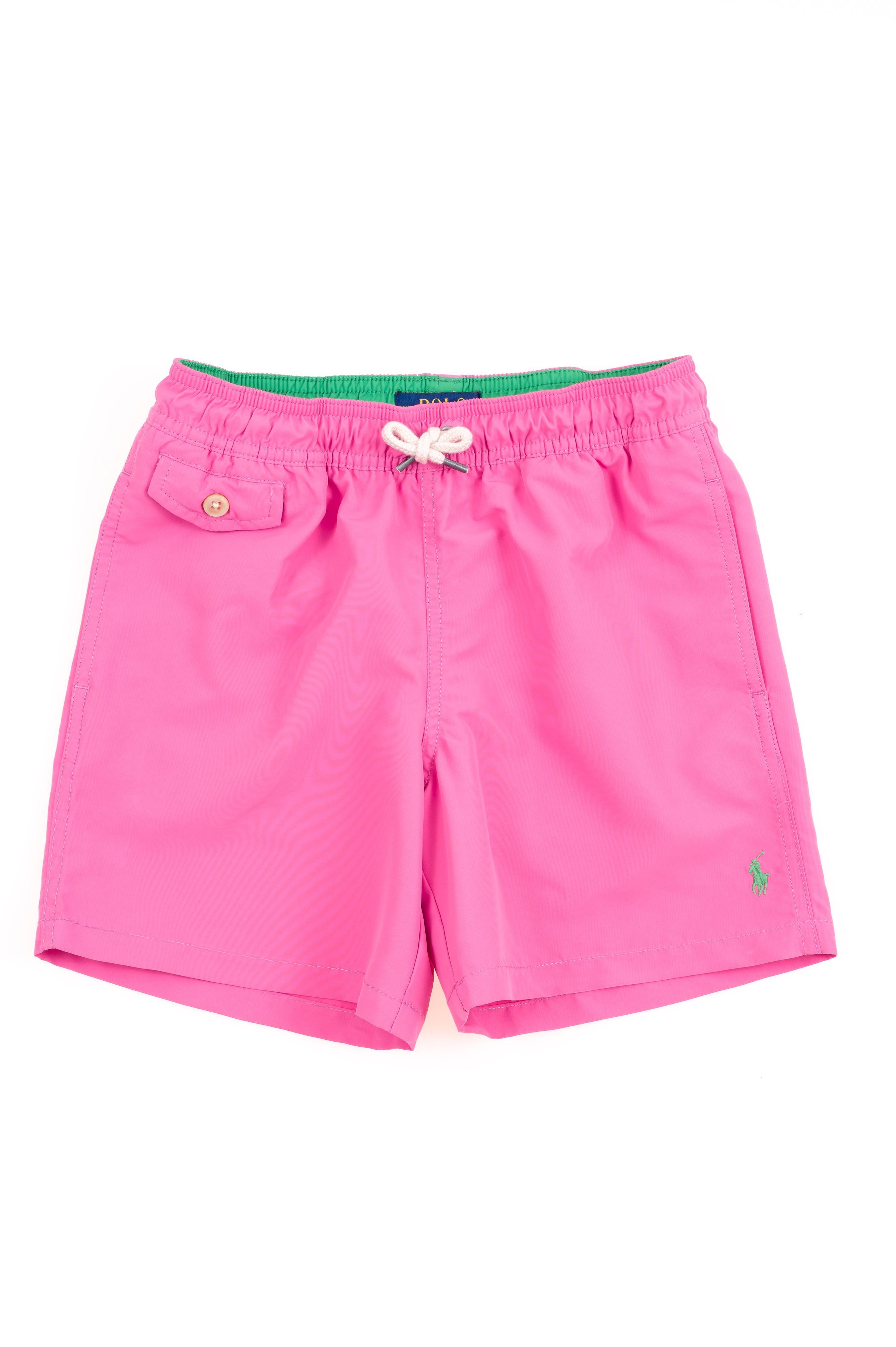 Boys Ralph Lauren Celebrity Pink Swim ShortsPolo Club shrQtdCx