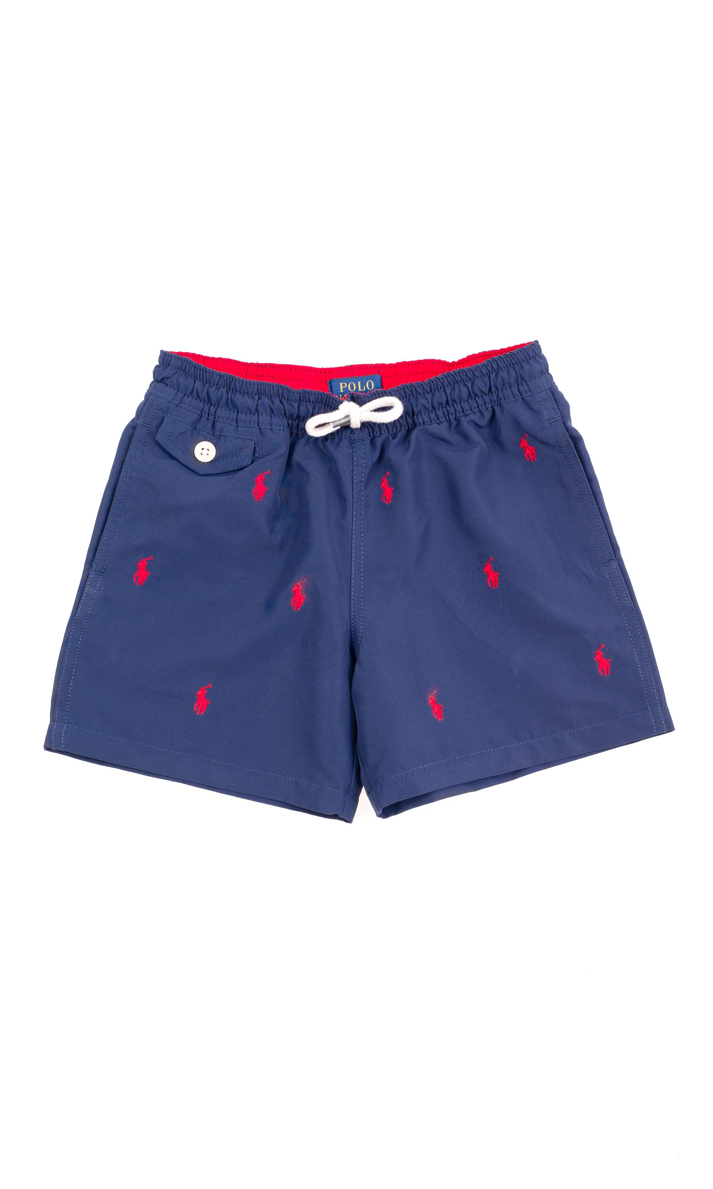 e9f16da26c Red horse printed navy blue boys swim shorts , Polo Ralph Lauren Maximize.  Granatowe szorty kąpielowe w czerwone koniki dla chłopców, Polo Ralph Lauren