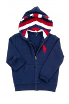 Navy blue hoodie with horse printed, Polo Ralph Lauren