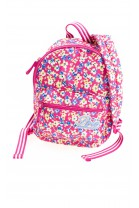 Girls pink colourful floral printed backpack, Polo Ralph Lauren