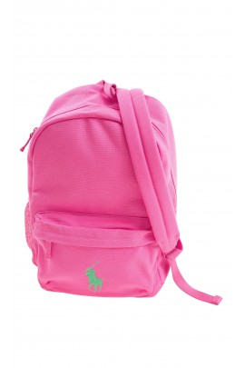 Pink single compartment backpack, Polo Ralph Lauren